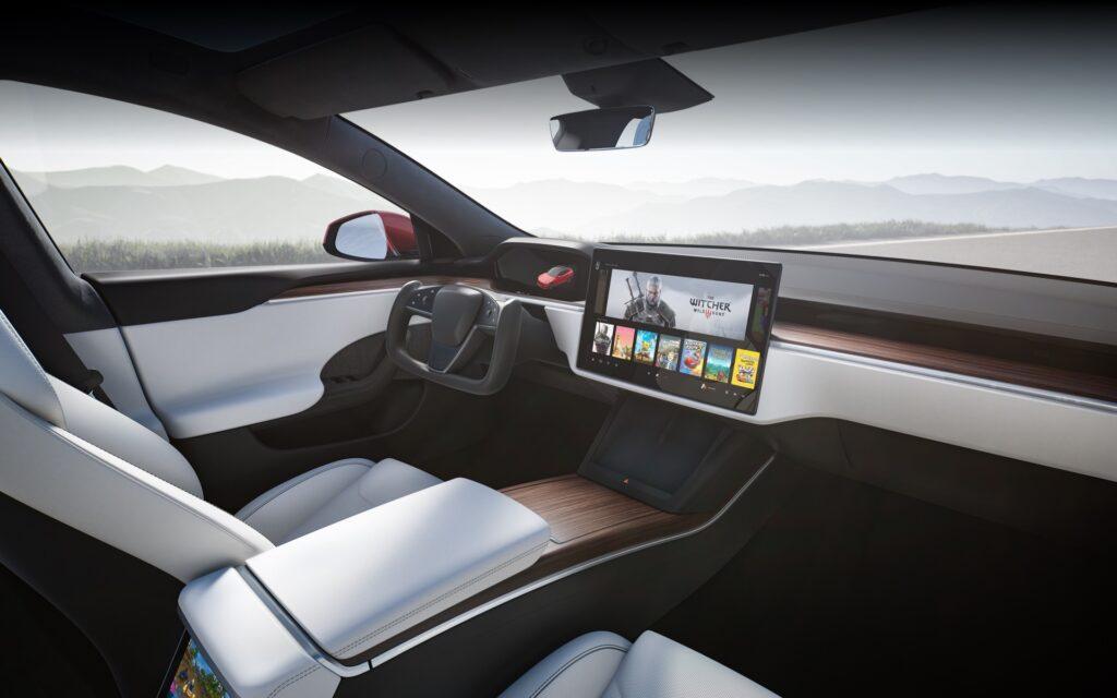 Tesla S skærm