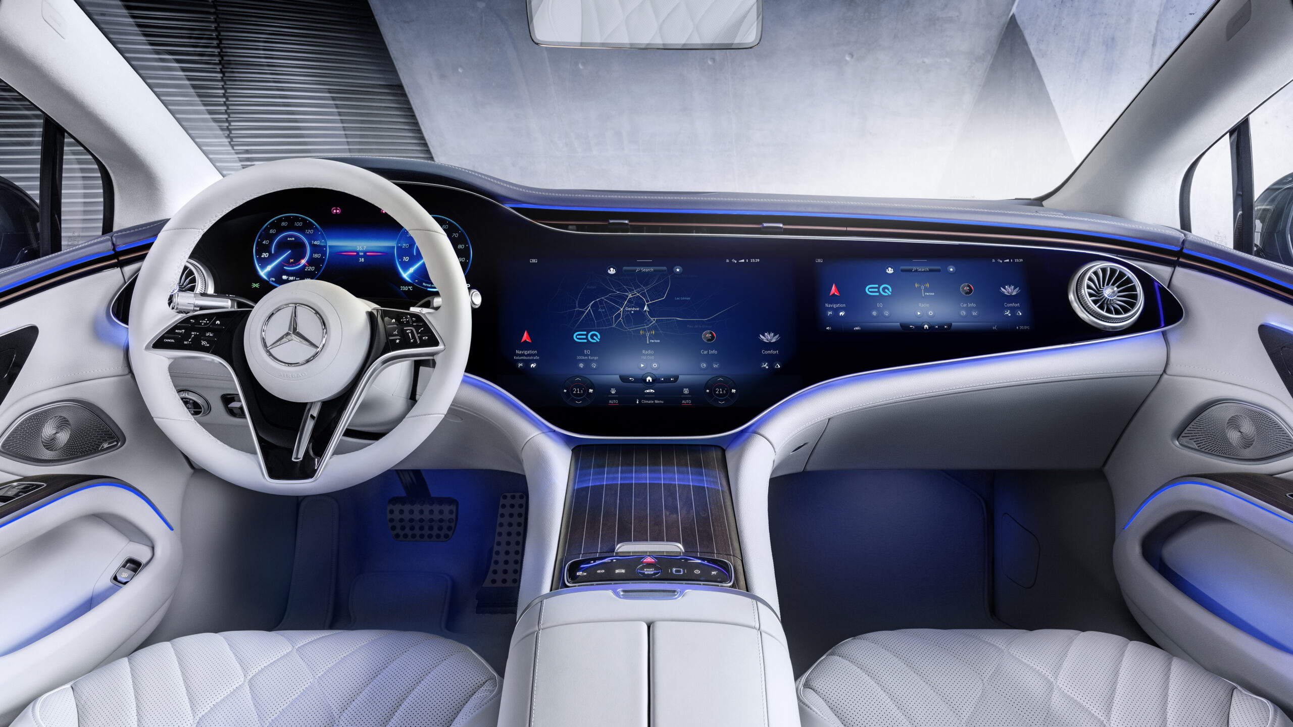 Mercedes EQS interiør